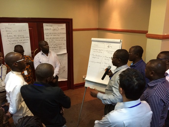 Photo: PATH/Hallie Goertz. BID Learning Network members at the Design Collaborative Meeting in Lusaka, Zambia (Dec. 2014).