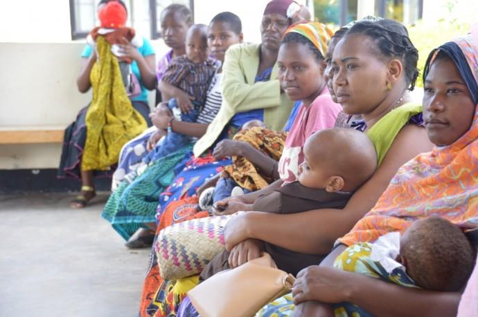 Women waiting for immunizations.