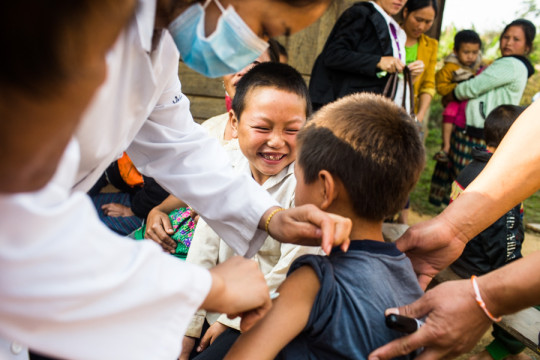 "Photo: PATH/Aaron Joel Santos. Parents, health care workers, policymakers, benefactors—all are needed to ensure that children in countries around the globe receive routine immunizations. But do we undersell the value of this lifesaving innovation by calling it ""routine""?"